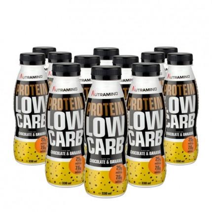 12 x Nutramino Protein Low Carb Shake Choco/Banana