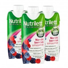 3 x Nutrilett Nordic Berries Less Sugar Smoothie