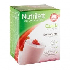 Nutrilett Quick Weight Loss Strawberry Shake, pulver