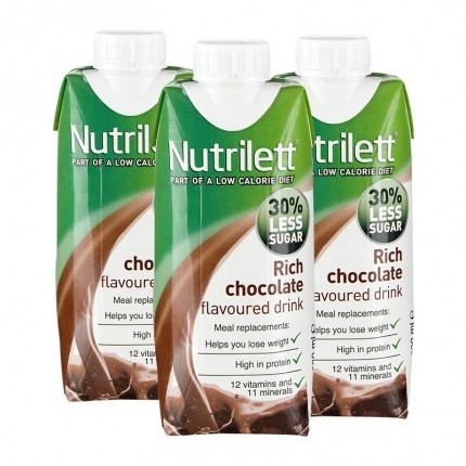 3 x Nutrilett Rich Chocolate Less Sugar Drink