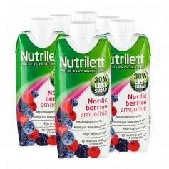 6 x Nutrilett Nordic Berries Less Sugar Smoothie