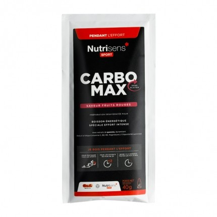 Nutrisens Sport, Carbo Max, fruits rouges, poudre, lot de 3