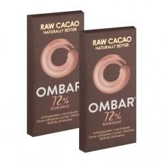 2 x Ombar, Chocolat Cru Bio Noir 72%