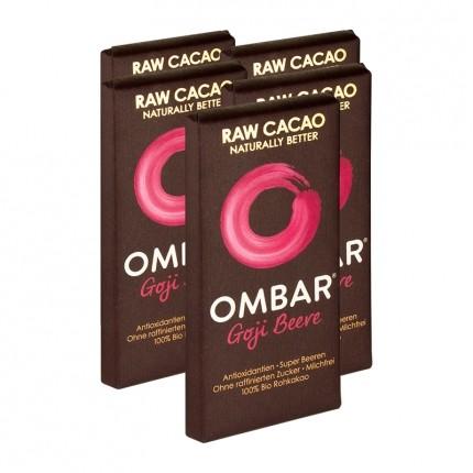 5 x Ombar Bio Goji Berry Rohe Schokolade