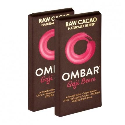 OMBAR Bio, Rohe Schokolade, Goji Beere (2 x 35 g)