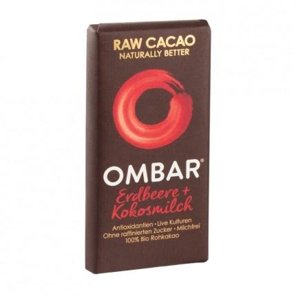 5 x Ombar Bio Strawberries & Cream Rohe Schokolade