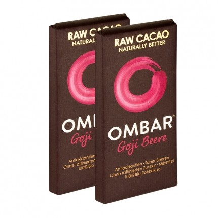OMBAR Bio, Rohe Schokolade, Goji Beere