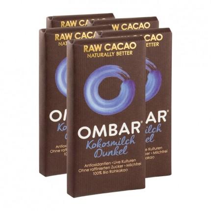 5 x Ombar Bio Coconut 60 % Rohe Schokolade