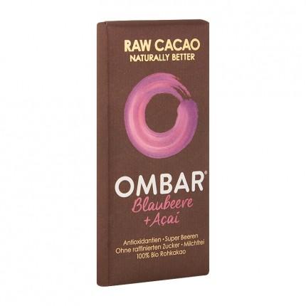 5 x Ombar Bio Acai & Blueberry Rohe Schokolade