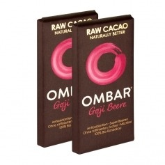 2 x Ombar Chocolat Cru Bio aux Baies de Goji