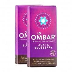 Ombar Bio Acai & Blueberry Rohe Schokolade Doppelpack