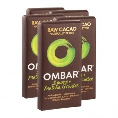 5 x Ombar Bio Lemon & Green Tea Rohe Schokolade
