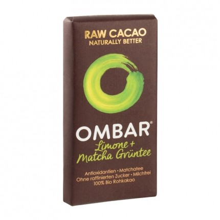 Ombar Raw Green Tea Chocolate with Matcha Tea & Lemon