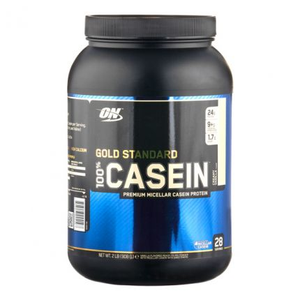 Optimum Nutrition 100% Casein Vanilla Ice Cream, Pulver