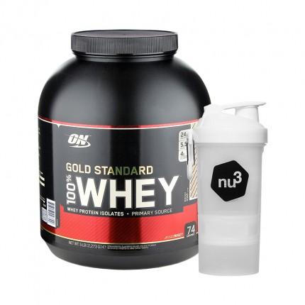 Optimum Nutrition 100% Whey Gold Standard Protein Rocky Road + nu3 SmartShake