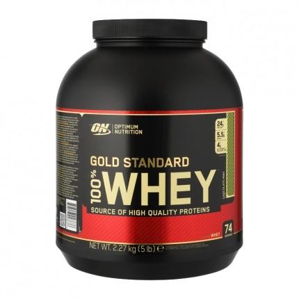 Optimum Nutrition 100 % Whey Gold - sjoko-mint-pulver
