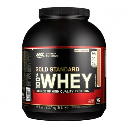 Optimum Nutrition 100% Whey Gold Standard Protein Caramel Frappe, Pulver