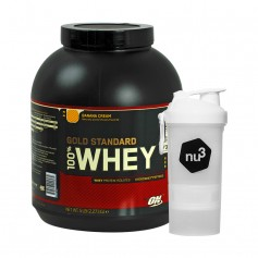 Optimum Nutrition 100% Whey Gold Standard Protein Banana Cream + nu3 SmartShake