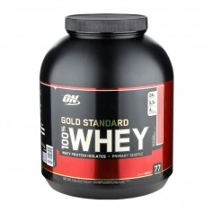 Optimum Nutrition 100 % Whey Gold - utsøkt jordbær-pulver