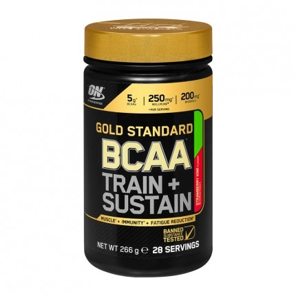 Optimum Nutrition BCAA Train+Sustain, Erdbeere-...