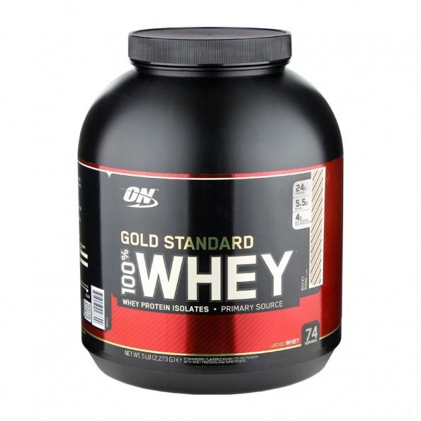 Optimum Nutrition 100% Whey Gold Rocky Road powder - protein