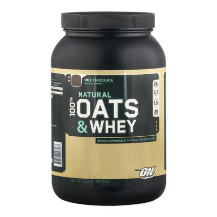 Optimum Nutrition Natural 100% Oats & Whey Milk Chocolate, Pulver