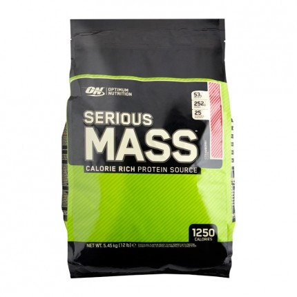 Optimum Nutrition Serious Mass Strawberry, Pulver