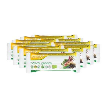 12 x Organic Food Bar Active Greens