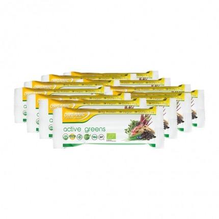 12 x Organic Food Bar Active Greens Bio Riegel