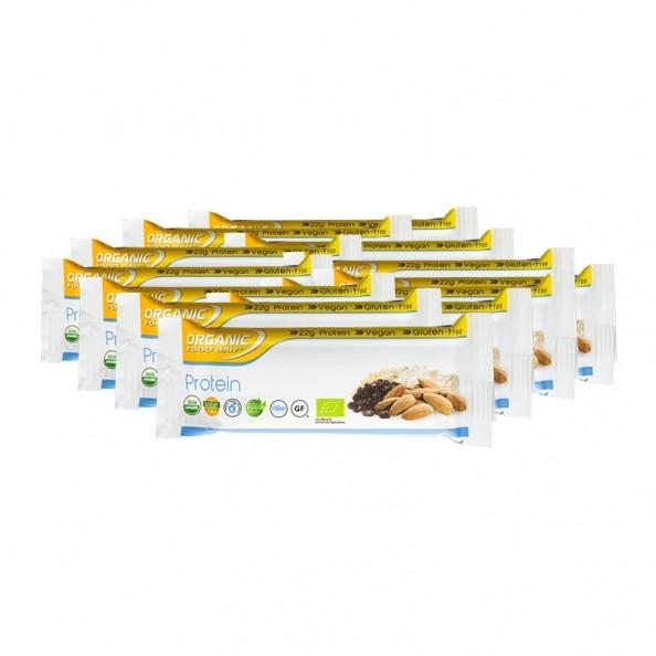 12 x Organic Food Bar vegetarischer Proteinriegel Bio