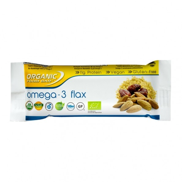 organic food bar omega 3 flax organic bar 100 raw