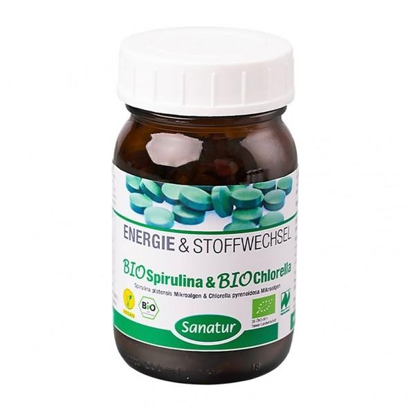 Organic chlorella and spirulina