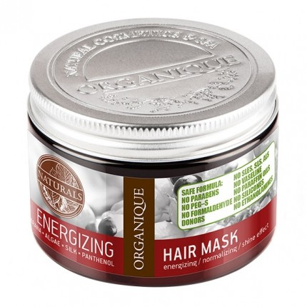 Organique Energising Hair Mask with Guarana and Silk Extract