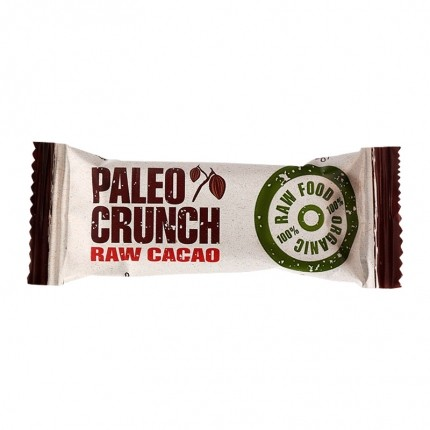 4 x Paleo Crunch Bar, Raw Cacao, Økologisk