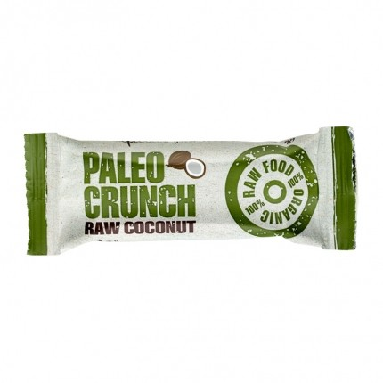 4 x Paleo Crunch Bar, Raw Coconut, Økologisk