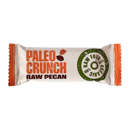 4 x Paleo Crunch Bar, Raw Pecan, Økologisk