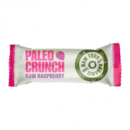 4 x Paleo Crunch Bar, Raw Raspberry, øko