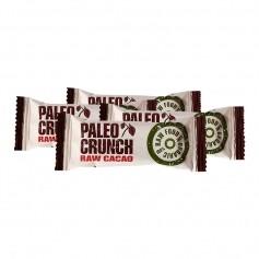 4x Paleo Crunch -energiapatukka, raakakaakao, luomu