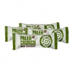 4x Paleo Crunch Bar, Raw Coconut, eko