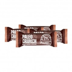4 x Paleo Crunch Raw Recovery Bar, Dark Cacao