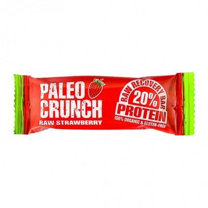 4x Paleo Crunch Raw Recovery Bar -patukka, mansikka
