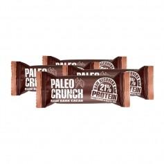 4x Paleo Crunch Raw Recovery Bar -patukka, tumma kaakao