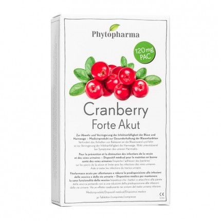 Phytopharma Cranberry Forte Akut, Tabletten