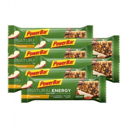 6 x Powerbar Natural Energy Fruit & Nut Riegel Apfelstrudel