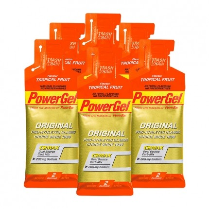 6 x Powerbar Gel Tropical Fruit