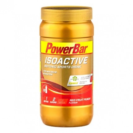 Isoactive Isotonic Sports Drink, Roter Fruchtpunsch, Pulver (600 g)
