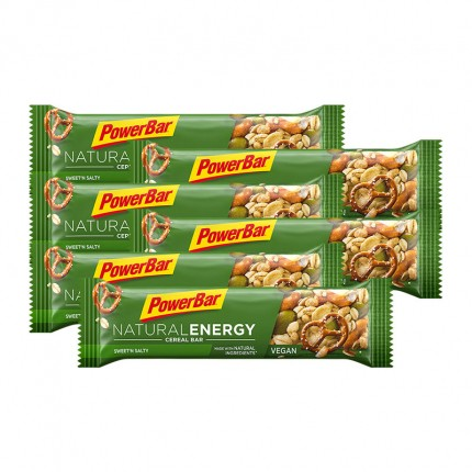 6 x Powerbar Natural Energy Cereal Riegel Sweet'n Salty