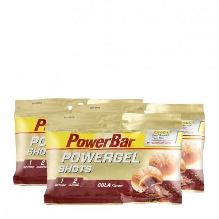Powerbar, PowerGel Shots, cola, lot de 3