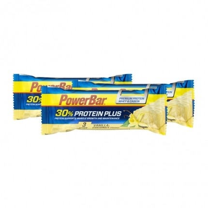 Powerbar, Protéine Plus 30%, vanille/coco, barre, lot de 3