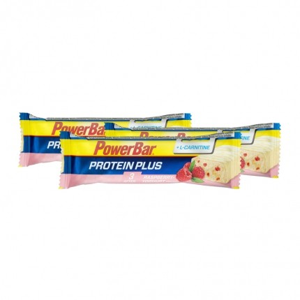Powerbar, Protéine Plus + L-Carnitine, framboise/yaourt, barre, lot de 3